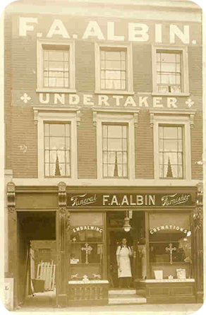 Historic Image of F.A. Albin & Sons Funeral Home in London