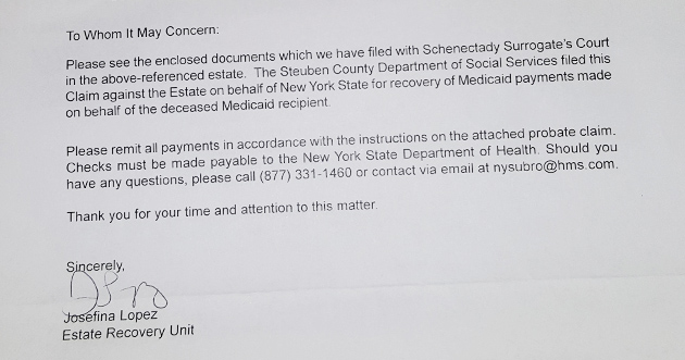 A government letter medicaid estate recovery an example of the cold language used to communicate with relatives of the recently deceased spiritdancerdesigns Choice Image