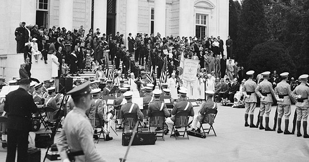 Gold Star Mothers at Arlington National Cemetery September 27, 1936 - From the Library of Congress