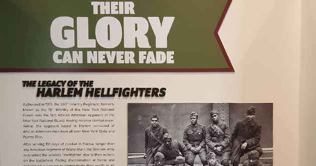 An exhibit in Albany, NY honors the Harlem Hellfighters. Click photo to visit exhibit website