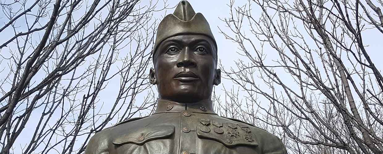 Henry Johnson is honored with a statue in Washington Park in Albany, NY