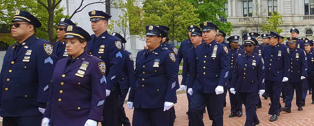 New York City Police Officers at the New York State Capitol During the May, 2017 NYS Police Officers Memorial ceremony. Photo by Edward Munger Jr.