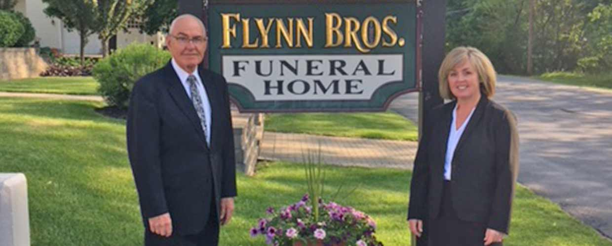 Jamie Turcotte Nevins and Father Joseph J. Turcotte of Flynn Bros. Funeral Home in Schuylerville and Greenwich, NY