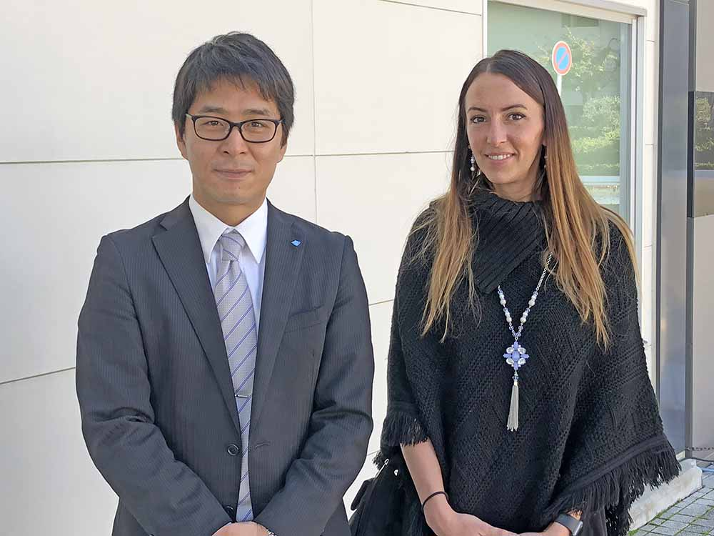 Japanese Funeral Director Mr. Ito and New York Funeral Director Heather Rauch in Japan