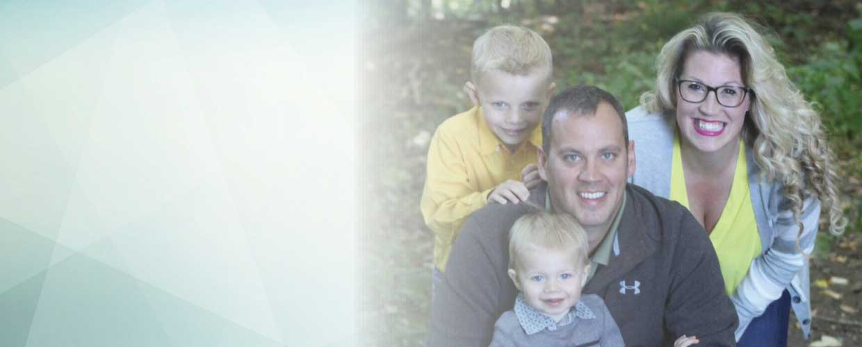 Funeral Director Nicole LaRue, husband Steve and sons Zakkary and Alexander
