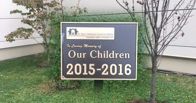 A Memorial Garden Honors Children at St. Mary's Hospital for Children in Queens