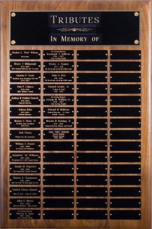 NYS Tribute Plaque