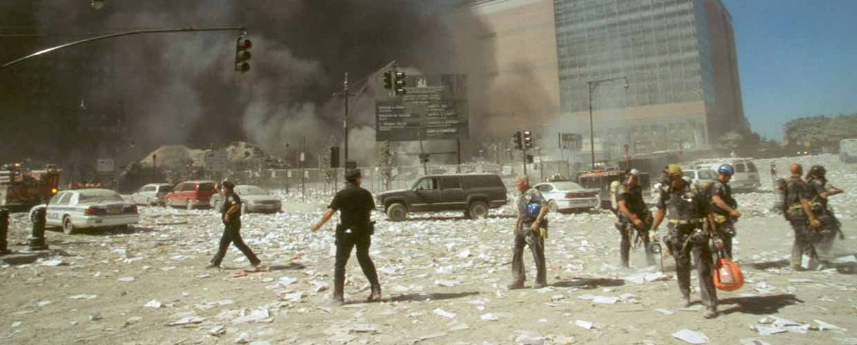 First-responders working after the September 11 terrorist attacks in New York City. Image Credit: Library of Congress.